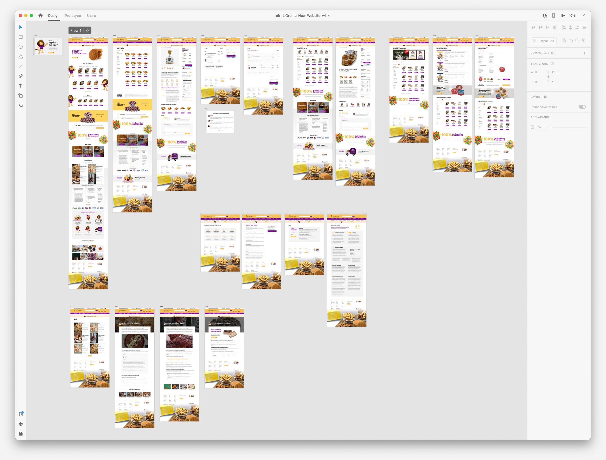 L'Orenta Website Prototype