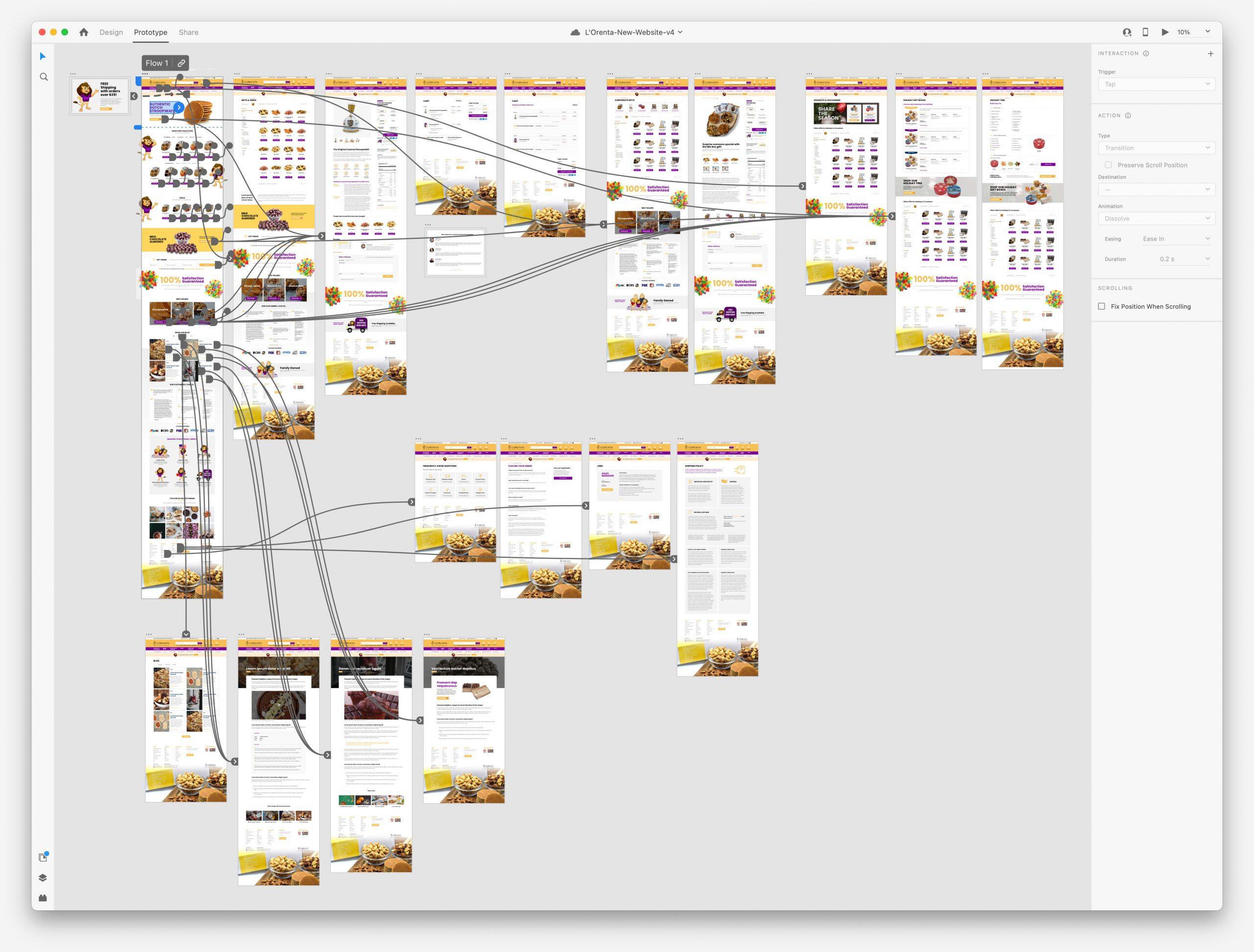 L'Orenta Website - Adobe XD Prototype